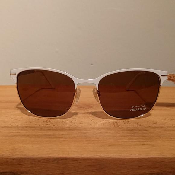 16e003167e Suncloud Causeway polarized white metal sunglasses